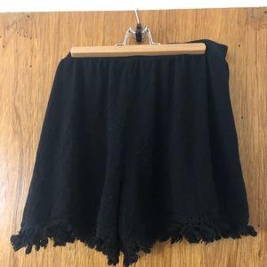 ASOS Women's Shorts Size 10 Black Stretch Frills
